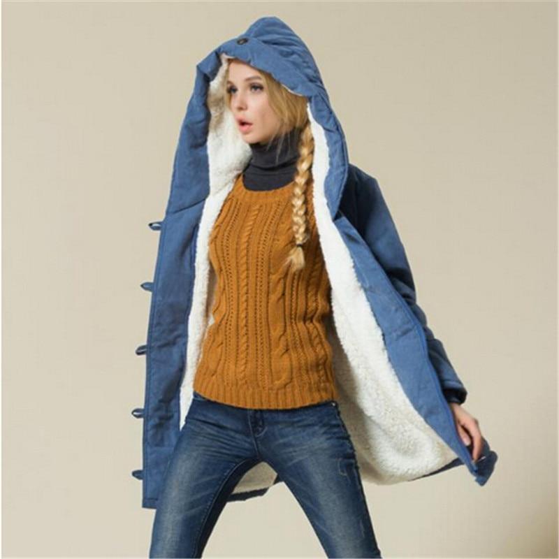 European Style font b Women s b font Cotton Jacket New Winter Casual font b Coat