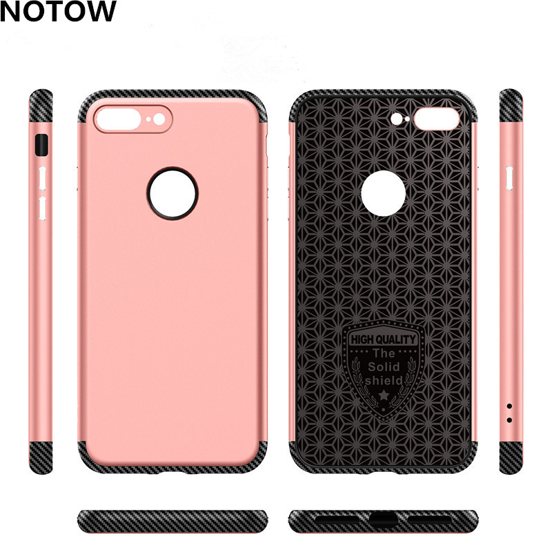 NOTOW 2017New shockproof phone case carbon fiber TPU + pc shell drawing material phone case cover for iphone7plus