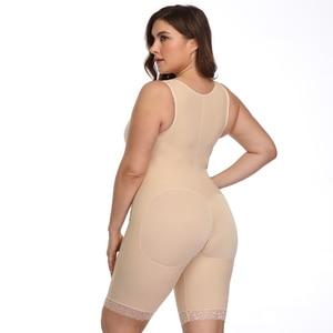 Image 5 - Moldeador de cuerpo firme para mujer, entrenador de cintura vientre, Control del Overbust, bodys adelgazantes, ropa interior, Body, corsé, bragas con cremallera