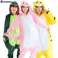 Zima Piżama Cosplay Kigurumi Onesie Dla Dorosłych Zwierząt Cartoon Piżamy Piżamy Damskie Unisex Tiger Cat Anime Piżamy Dinozaurów