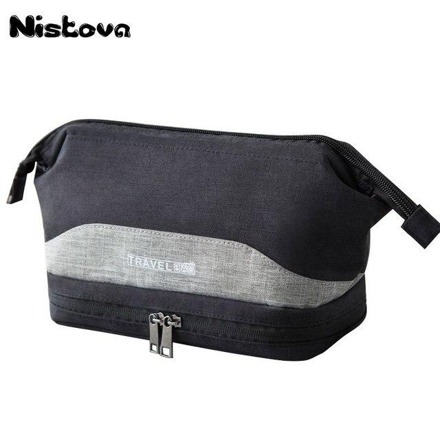 Waterproof Large Men Toiletry Bag Double Layer Travel Organizer Cosmetic Bag For Women Necessaries Make Up Case Wash Makeup Bag