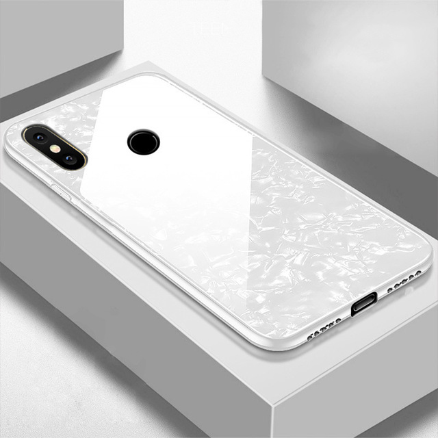 Bling-Shell-Tempered-Glass-Case-For-Xiaomi-Mi-8-SE-6-6X-5X-A1-Note-3 (2)