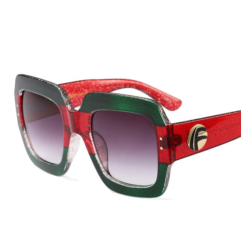 2018 Лидер продаж Мода цвет кристалла площади улица выстрел Ретро Для мужчин wo Для мужчин UV400 Солнцезащитные очки для женщин Винтаж бренд звез...