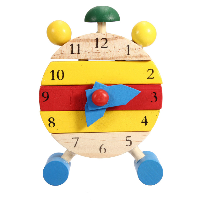 Mini Puzzle Clock Montessori Wooden Puzzles Toys Oyuncak For Children Digital Learning Education Educational Game Boys
