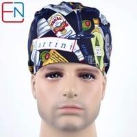 Hennar Brand Surgical Caps For Men MEDICAL CAPS In Black Scrub Caps