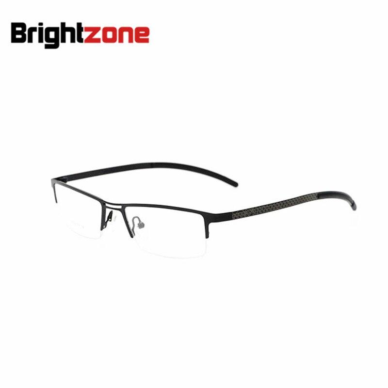 Nouveauté nouvelle marque Designer demi-sans monture titane pur hommes lunettes lunettes montures optiques RX lunettes de Prescription