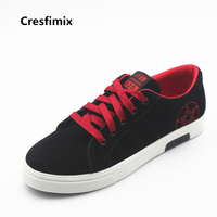 Cresfimix Man S Fashion Canvas Vulcanization Shoe Men Casual Lace Up Shoes Male Spring Autumn Travel