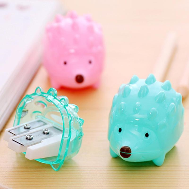 2019 Latest Design 1pcs Kawaii Hedgehog Design Double Orifice Mini Pencil Sharpener Children Cartoon Pencil Sharpener Pens, Pencils & Writing Supplies