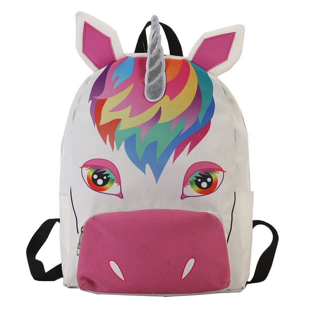 ceb00367e Sac a dos unicornio unicórnio saco de escola mochila sacos de lona mochila  escolar bolsa feminina