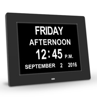 PINWEI Day Clock Digital Calendar with Extra Large Non Abbreviated Date Time Display for Seniors Memory Loss People Dementia