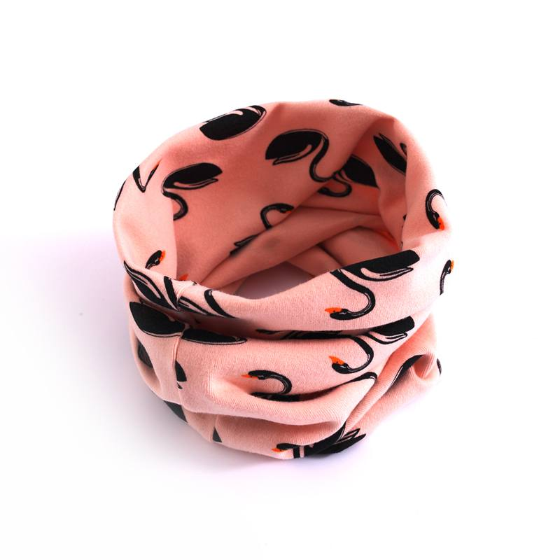 1pc Autumn Winter Infant Baby Children Boys Girls Cotton Scarves Fashion Cartoon Floral Printed Comfortable High Quality Snood