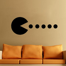 Pacman Home Decorations Family Vinyl Decal Art Wall Sticker Living Room Waterproof Wall Decals For Bedroom Removable Decal