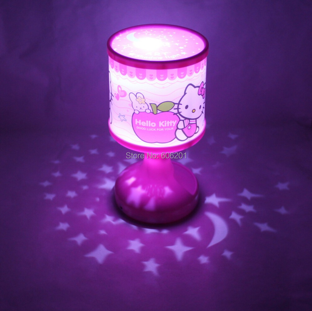 Cartoon Hello Kitty USB Battery LED Novelty Flash Light Lamp,Color Changing Table Beside Lamps ...