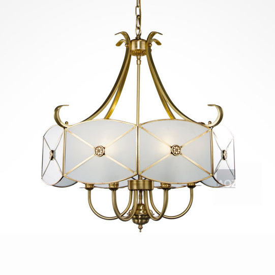 26 Copper Chain Pendant Light Free Shipping Luxury Noble Pendant Light Living Room Hotel Bedroom VINTAGE Copper Fixture Lamp