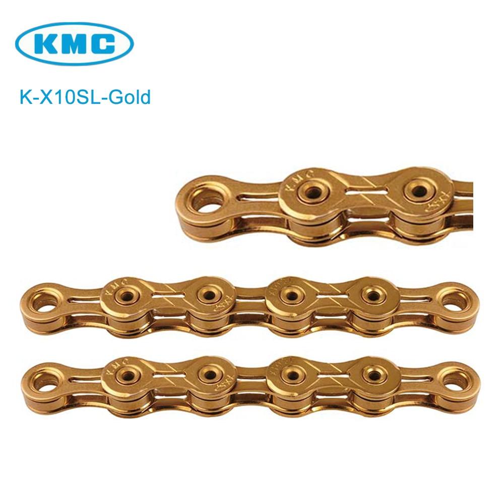 NEW KMC X10SL Chain 10 speed 116 Links Ti Nitride Gold