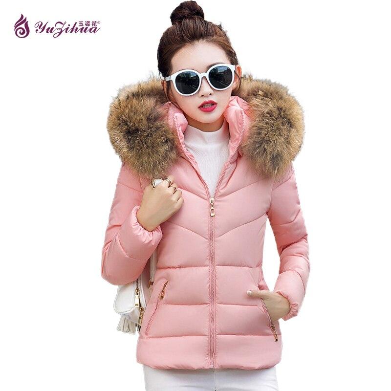2017 New font b Women b font Winter Hooded Warm Coat Slim Plus Size Candy Color
