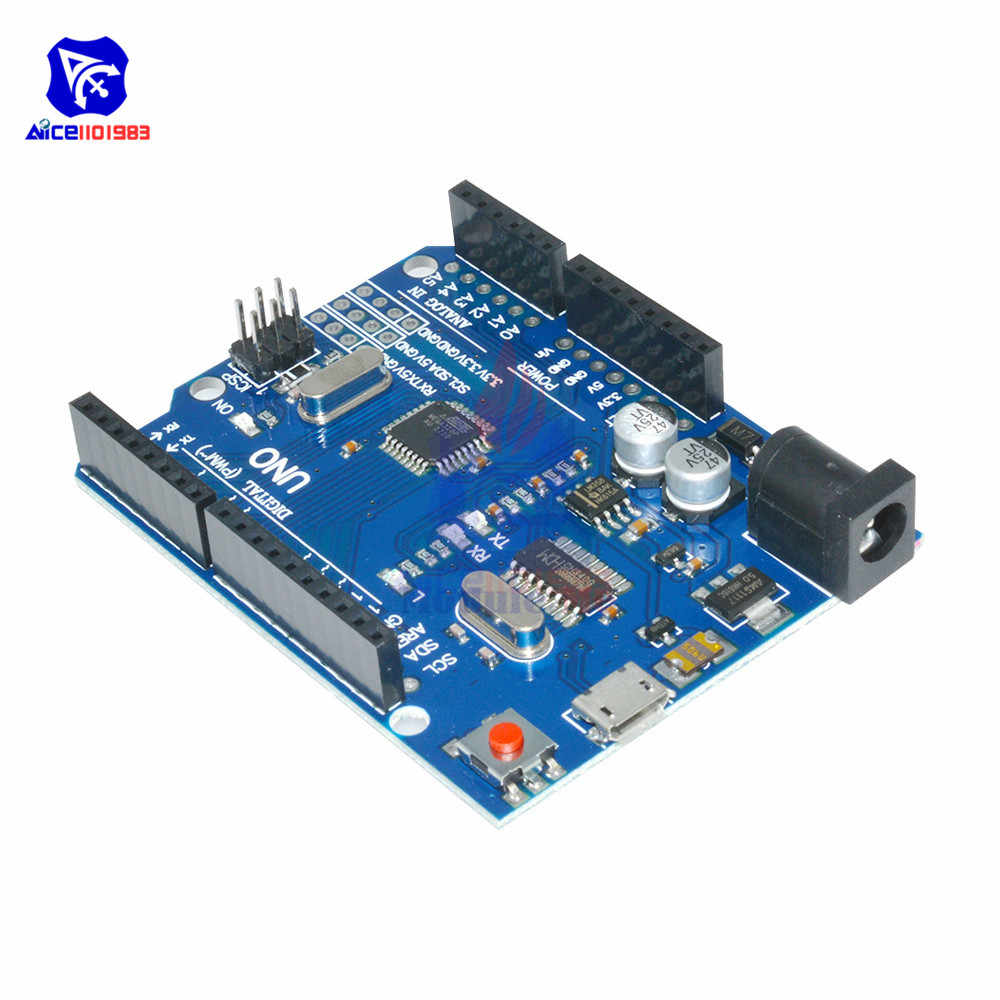 CH340G Cool Version UNO R3 MEGA328P UNO R3 ATMEGA328P AU Compatible CH340 Micro USB Interface for Arduino