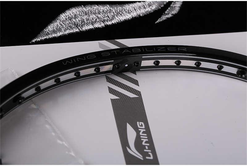 Li-Ning High-end Badminton Racket TB-Nano Carbon Fiber Li Ning Control Racquet XiPHOS X1 High Tensile Slim Shaft L378OLB