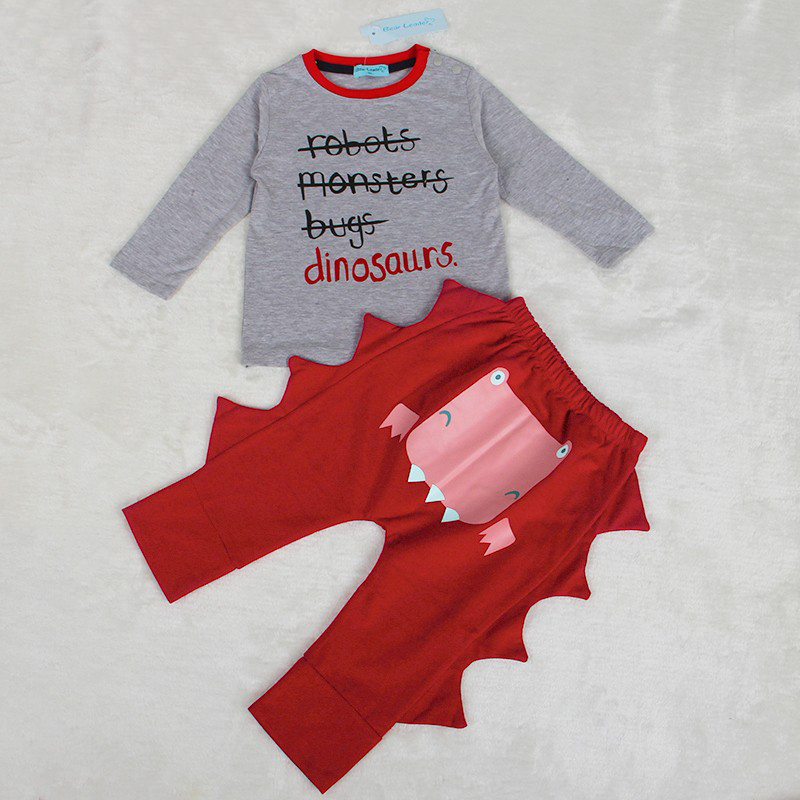 2018 Spring Baby Boy Clothing Set Infant Clothes Cotton Letter Printed Long sleeve T-shirt + Pant 2pcs Baby Clothing Sets 2pcs baby boy clothing set autumn baby boy clothes cotton children clothing roupas bebe infant baby costume kids t shirt pants