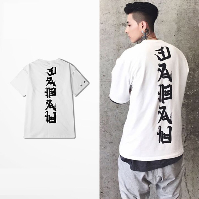 2017 hip hop fashion T-shirt printing Chinese characters in the summer of  2017 men and women T-shirt tee shirt US XS - XL size 7612ad9654