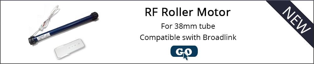 motor casa inteligente dc12v rf433 tubular elétrica cortina terno para broadlink