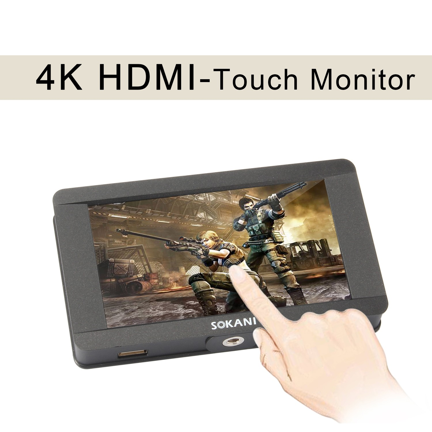 Sokani SK-5 5 4K Signal Support Touch Screen1920 x 1080HDMI On-Camera LCDField Camera Video Monitor for Sony Canon All DSLR цена