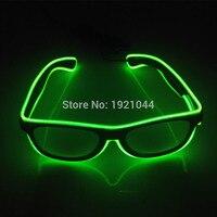 New Arrival 100pcs EL Glasses EL Wire Fashion Neon LED Light Up Shutter Shaped Glasses Rave