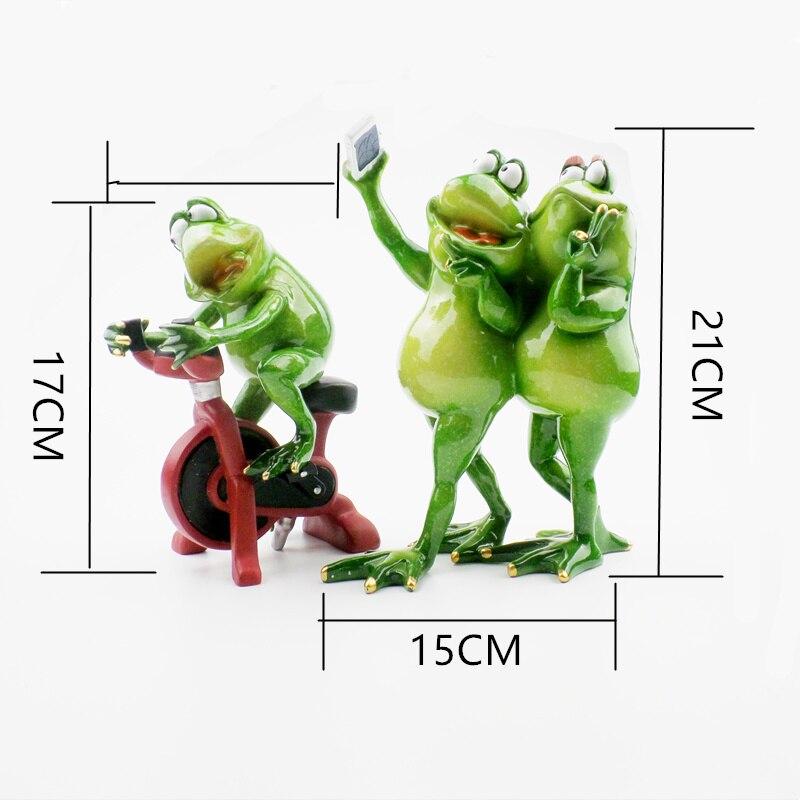 Kawaii Αστεία Frog Ράγα Ειδώλια - Διακόσμηση σπιτιού - Φωτογραφία 2