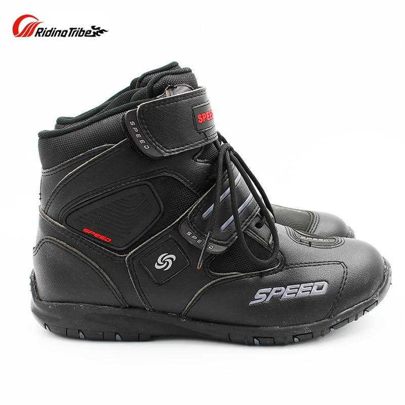 Motorrad Reiten Nicht-slip stiefel Pro-biker schuhe Racing Stiefel, Motocross Stiefel, Motorrad Mikrofaser Leder schuhe