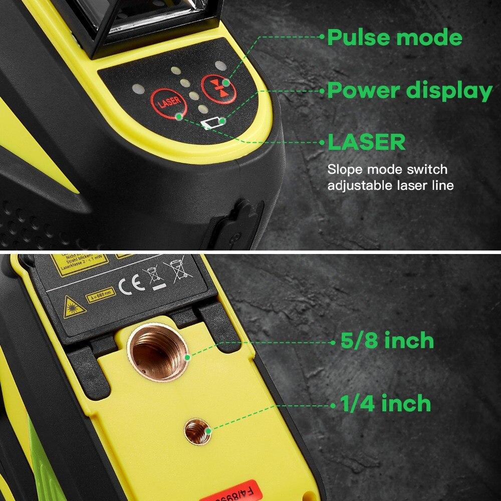 FIRECORE F93T-XG 12 Lignes 3D Vert Laser Niveau LR6/batterie au lithium Auto-Nivellement Horizontal et Vertical Croix Lignes Peut utiliser Le Récepteur - 4
