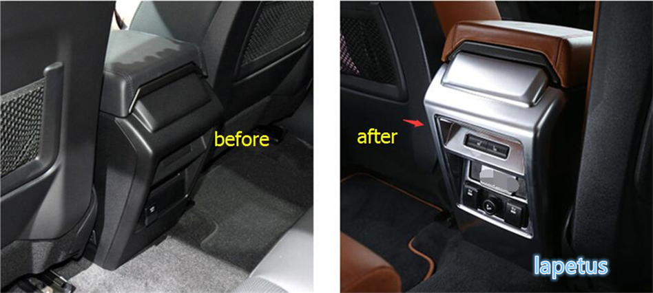 New Style For Land Rover Discovery Sport 2015 2016 2017 2018 Protective Pad Anti Kick Protection Panel Armrest Box Cover Trim коврики в салон land rover range rover evoque 2011