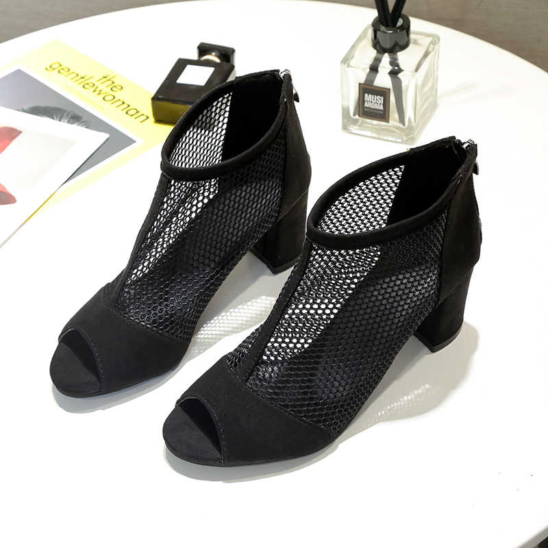 Karinluna/Лидер продаж; сандалии-гладиаторы с открытым носком и сеткой для отдыха; женская обувь; вечерние летние сапоги; женские туфли сандалии