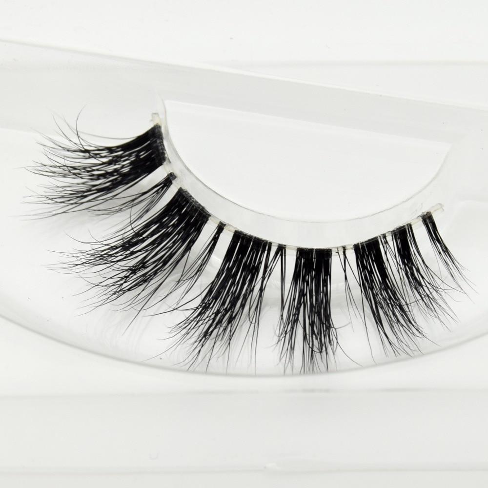 Visofree Mink Lashes 3D Mink Eyelashes Invisible Band Natural Black Mink False Eyelash Full Strip Cilios Posticos Reusable F43