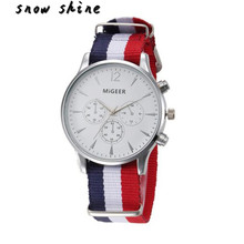 snowshine #10    Luxury Fashion Canvas Mens Analog Watch Wrist Watches  free shipping