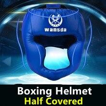 Продвижение бокса ММА защитный шлем протектор для головы взрослых и детей тренировочные головные уборы Муай Тай кикбоксинг полупокрытые шлемы
