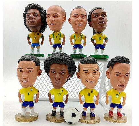 Russie coupe du monde Messi Van Persie C Luo Lavon bricolage football star poupées voiture ornements modèles poupée en gros usine outle