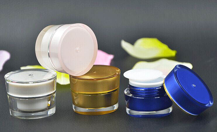 100pcs 5g ACRYLIC cone shape cream bottle , 5g plastic cosmetic container cream jar Cosmetic, Packaging Cosmetic Jar 4 colors