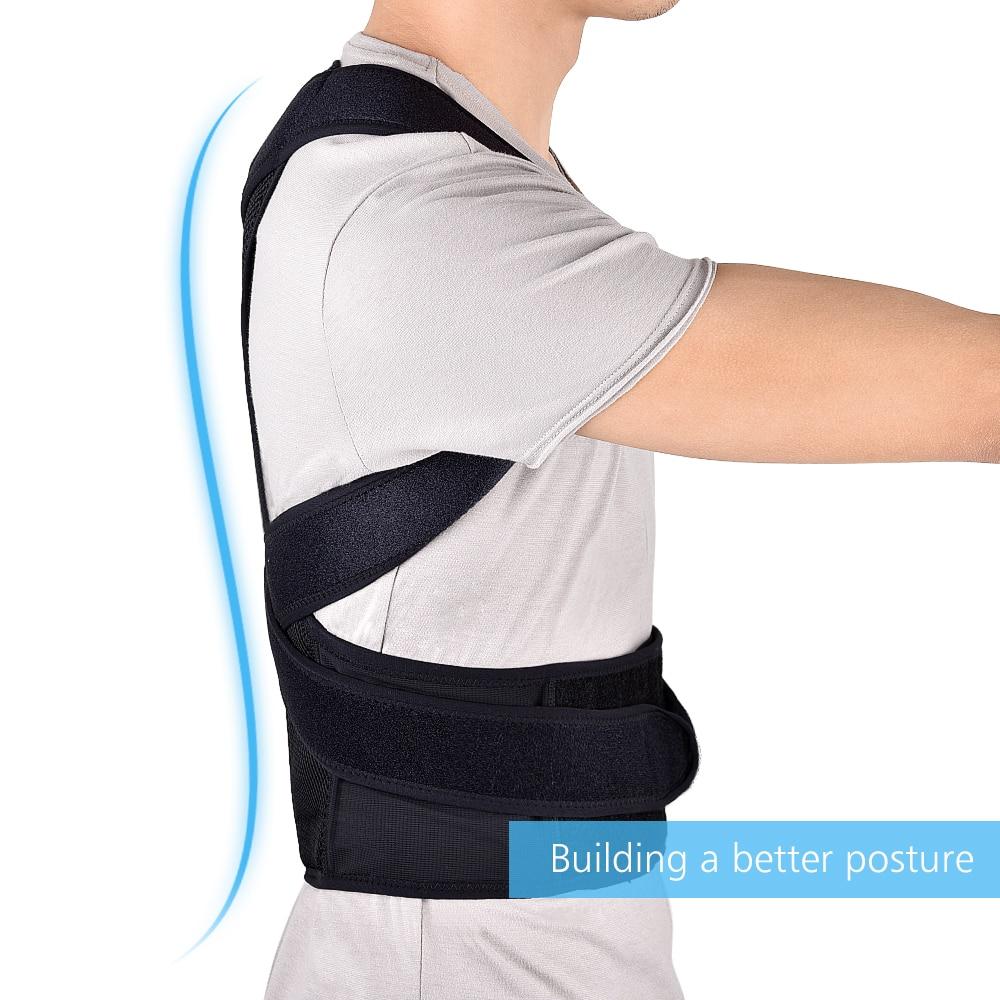 Adjustable Back Brace Posture Corrector Back Support Shoulder Belt Lumbar Spine Support Belt Posture Correction For Adult 5