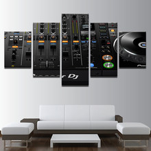 Wall Art Home Decor Prints Framework 5 Pieces Music DJ Console Instrument Mixer Paintings Night Club Bar Poster Canvas Pictures(China)
