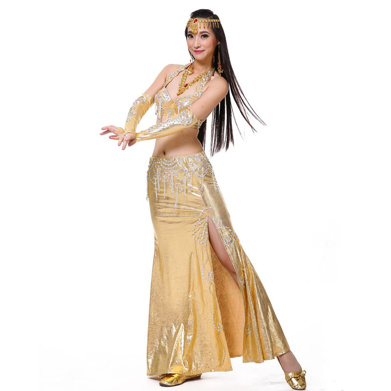Belly Dancing Costume 2 Piece Suit Bra Skirt 2018 New Arrival Belly Dance Clothing Oriental Costume