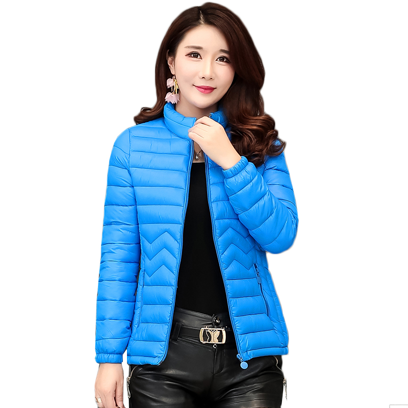 Autumn Winter Short Women   Parkas   2019 Korean Plus Size Ladies coats Thin Slim Padded Jackets Casual Women Outerwear Tops 5XL6XL