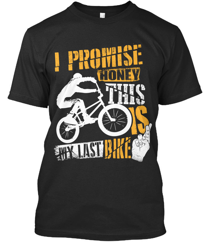 My Last Bmx Bikeer Fingers Crossed Premium Tee T-Shirt