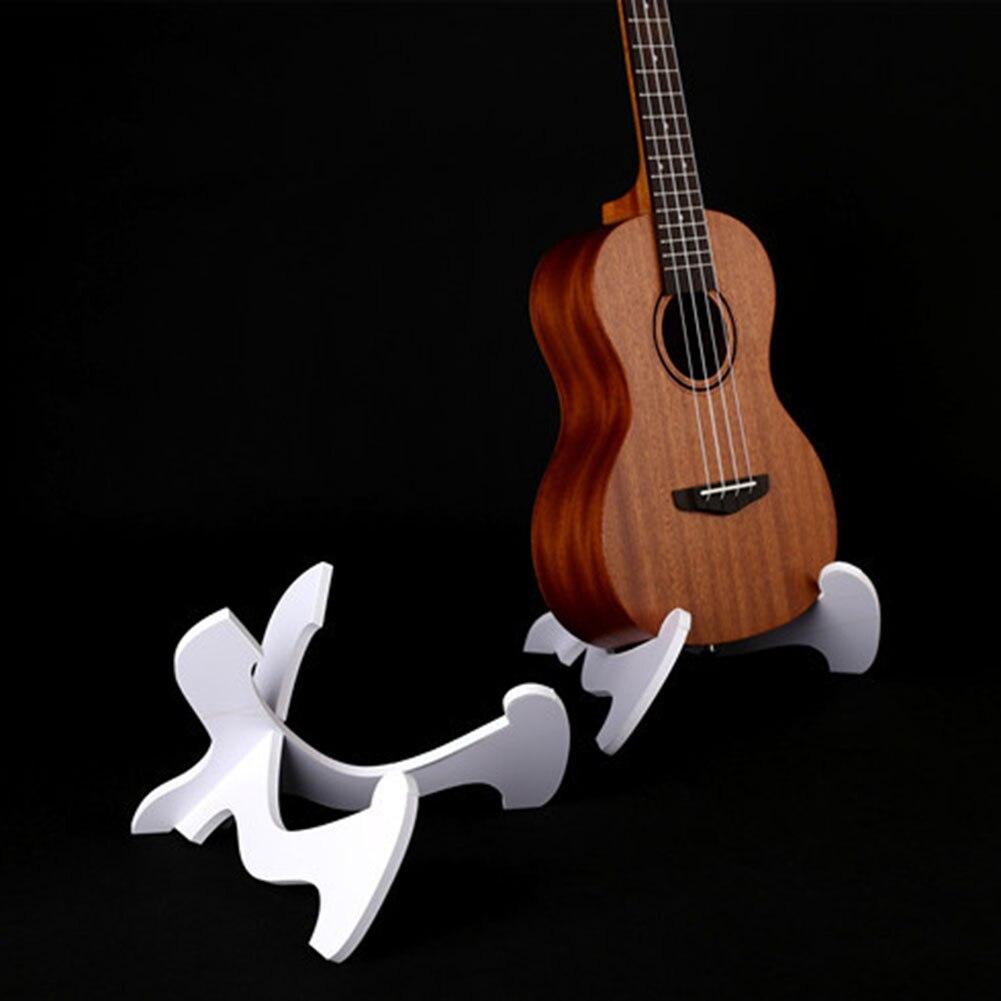 White Guitar Holder Ukulele Shelf Ukulele Folding Vertical Stand Guitar PVC Bracket Accessories 25*15*0.8cm Ukulele Stand