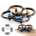 New U207 6 Axis Gyro RC Helicóptero Brinquedos de Controle de Rádio 4CH mini-quadcopter UFO Luzes LED Cor Laranja Preto