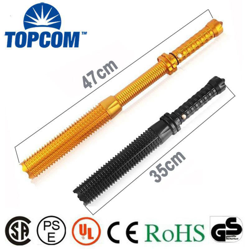 acc585fe8b2d  Free ship Hunting Cree telescopic baton police flashlight Outdoor CREE  Baseball bat flashlight with zoom For comping climb hike