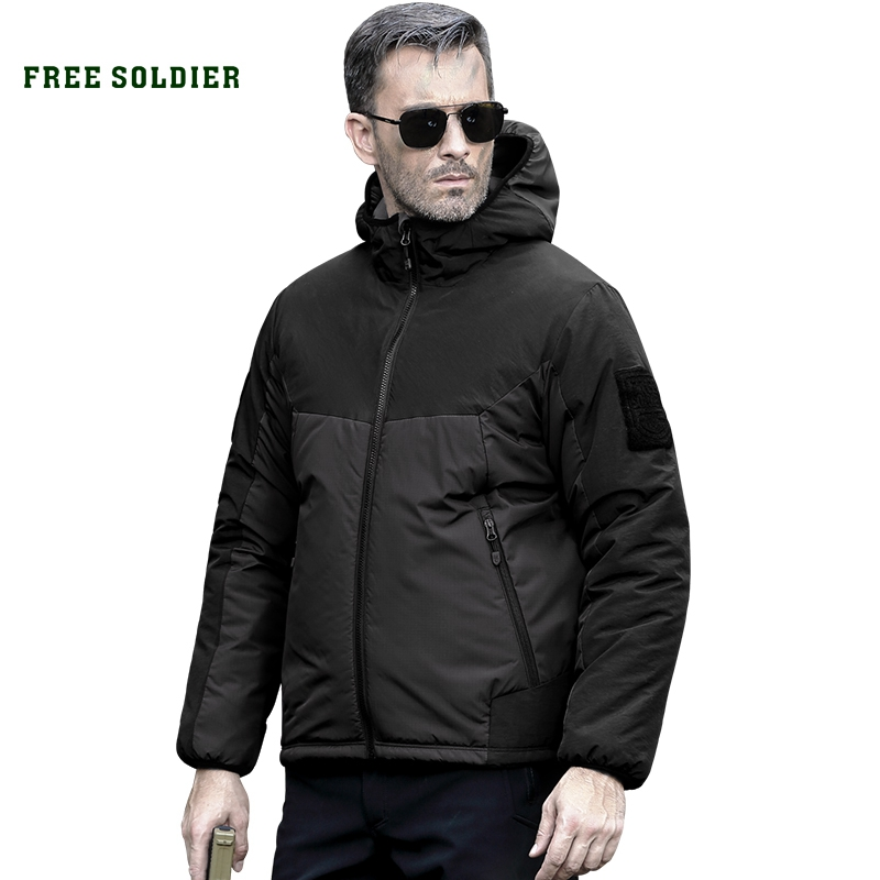 FREE SOLDIER outdoor sports tactical military jacket winter men's cloth outerwear coat for camping hiking baseball bat led flashlight security portable camping light super bright olight self defense dry battery outdoor sports torchlight