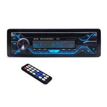 3010 Araba MP3 Çalar 12 v Mavi diş V2.0 Araba Stereo Ses In dash Tek 1 Din FM Alıcı aux Girişi MP3 MMC WMA Radyo Çalar