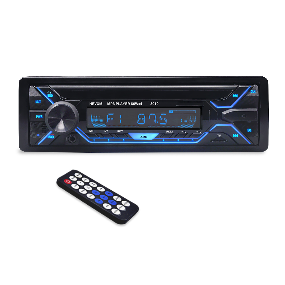 3010 Car MP3 Player 12V Blue tooth V2.0 Car Stereo Audio In dash Single 1 Din FM Receiver Aux Input  MP3 MMC WMA Radio Player-in Car MP3 Players from Automobiles & Motorcycles