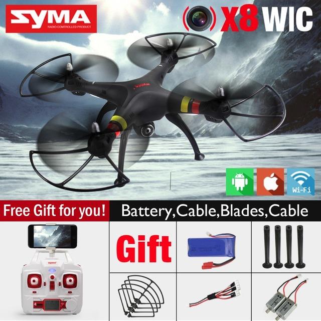 SYMA X8W FPV RC Quadcopter Zangão com Câmera WI-FI 2.4G 6 Eixos Dron Câmera de 2MP RTF RC Helicóptero SYMA X8C com 2 Bateria VS X101