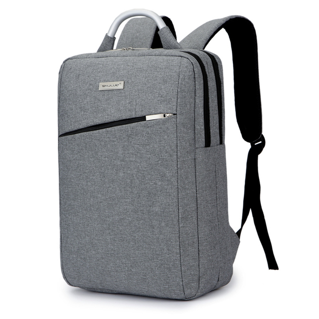 15 6 Metal Portable Computer Backpack Bags Laptop Office Business Simple Male Female College Students